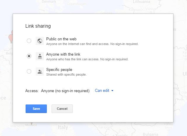 Google Map Sharing